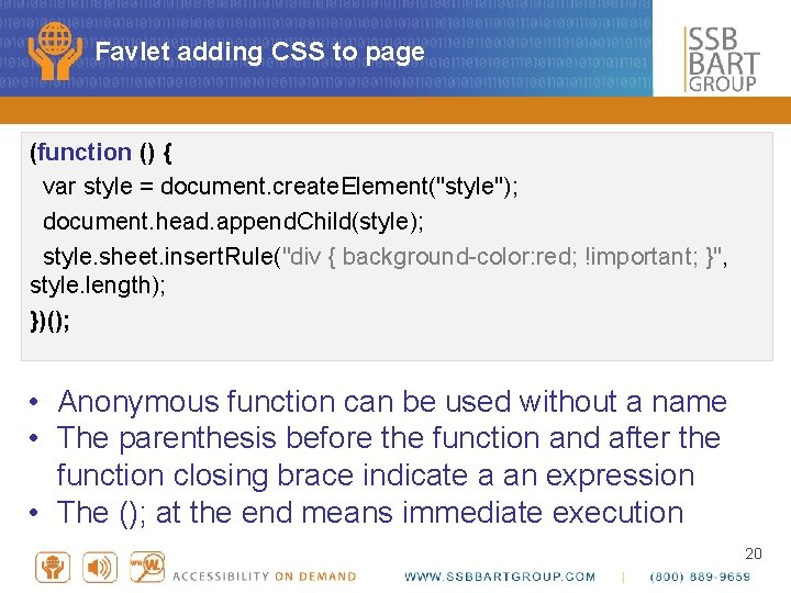 """Favlet adding CSS to page (function () { var style = document. create. Element(""""style"""");"""