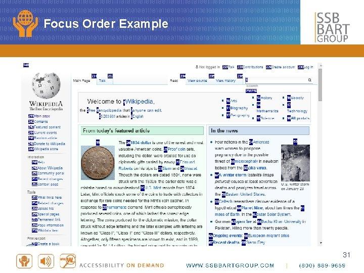 Focus Order Example 31