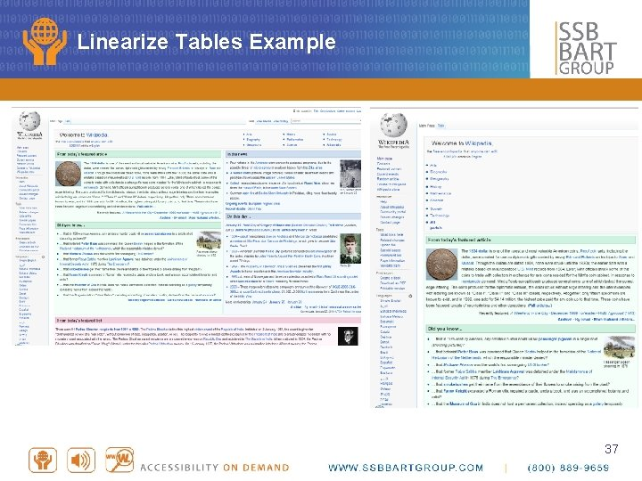 Linearize Tables Example 37