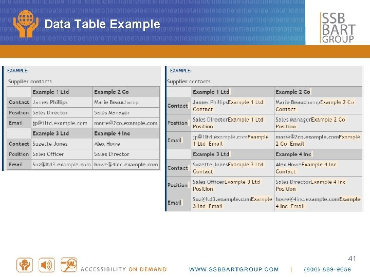 Data Table Example 41