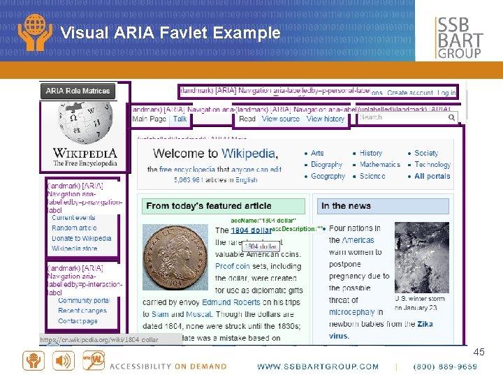 Visual ARIA Favlet Example 45