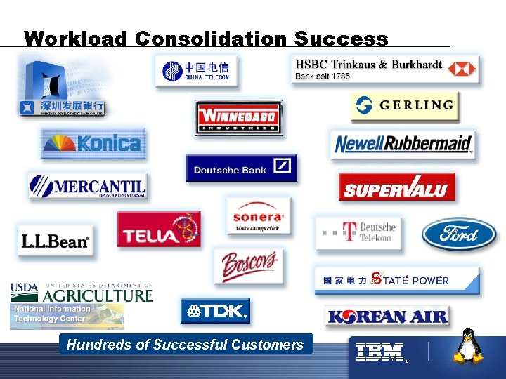 Workload Consolidation Success Hundreds of Successful Customers ®