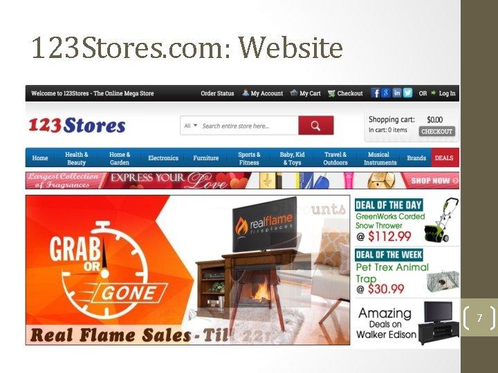 123 Stores. com: Website 7