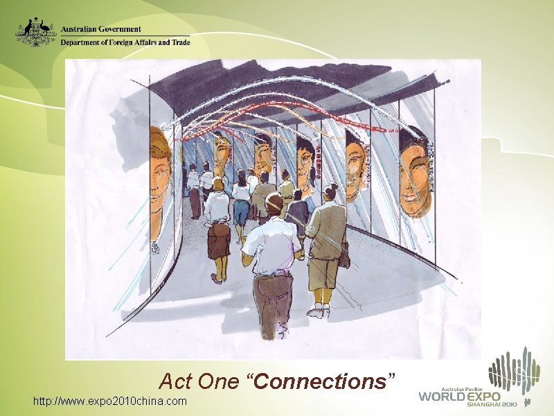 """Act One """"Connections"""" http: //www. expo 2010 china. com"""