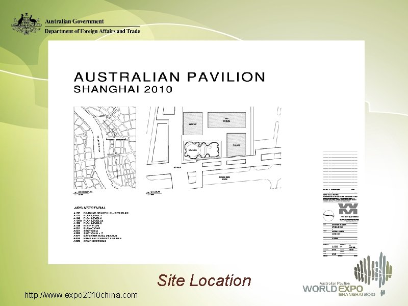 Site Location http: //www. expo 2010 china. com