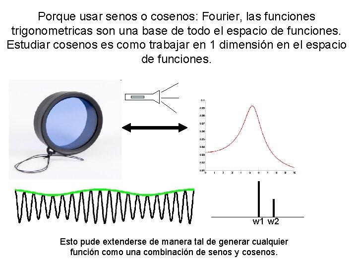 Porque usar senos o cosenos: Fourier, las funciones trigonometricas son una base de todo