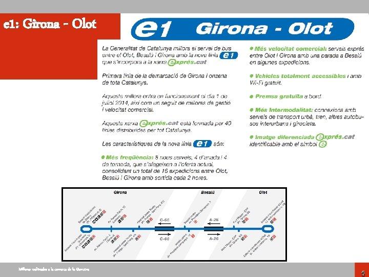 e 1: Girona - Olot Millores realitzades a la comarca de la Garrotxa 5