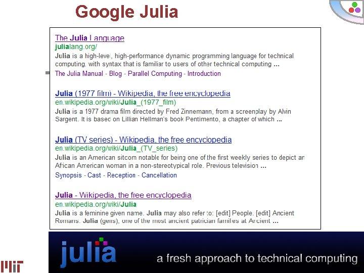 Google Julia