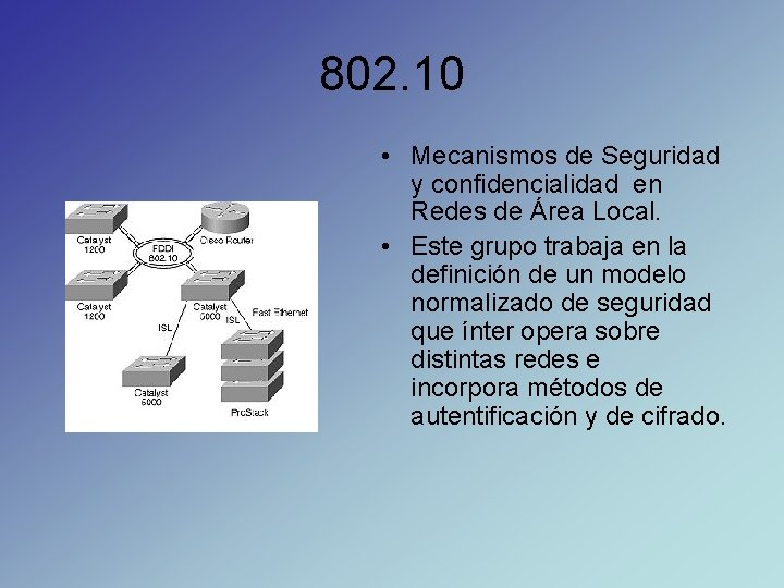 802. 10 • Mecanismos de Seguridad y confidencialidad en Redes de Área Local. •
