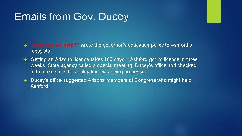 """Emails from Gov. Ducey """"How can we help? """" wrote the governor's education policy"""
