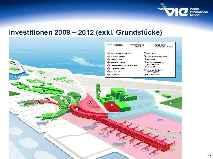 Investitionen 2008 – 2012 (exkl. Grundstücke) 22
