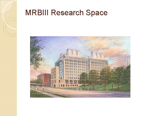 MRBIII Research Space