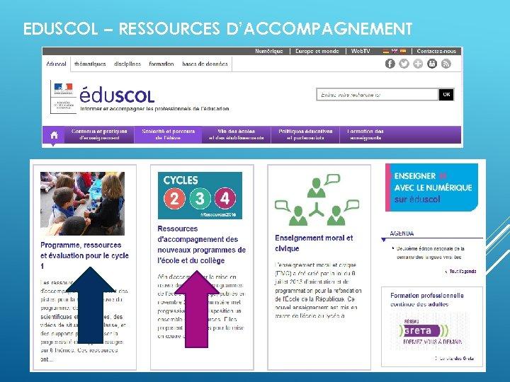 EDUSCOL – RESSOURCES D'ACCOMPAGNEMENT