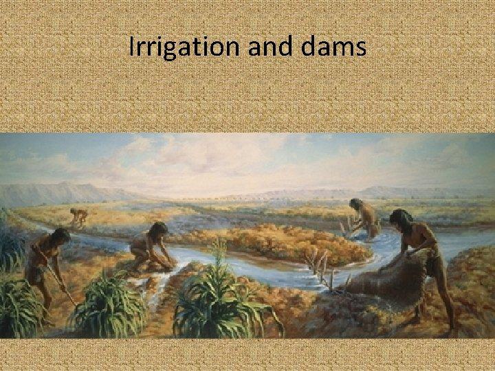 Irrigation and dams