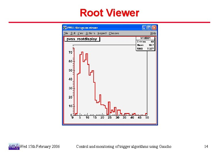 Root Viewer Wed 15 th February 2006 Control and monitoring of trigger algorithms using