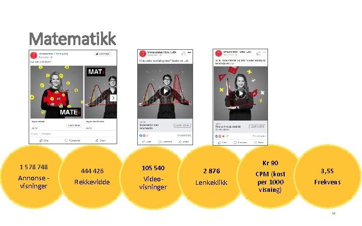 Matematikk 1 578 748 Annonse visninger 444 426 Rekkevidde 105 540 Videovisninger 2 876