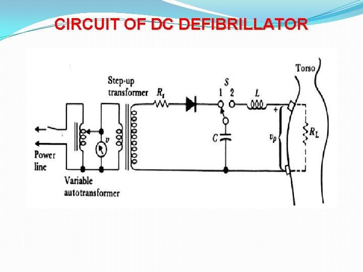 CIRCUIT OF DC DEFIBRILLATOR