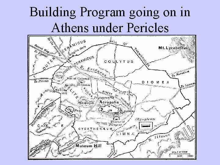 Building Program going on in Athens under Pericles