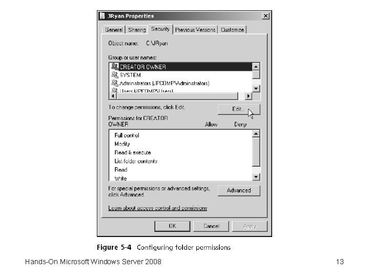 Hands-On Microsoft Windows Server 2008 13