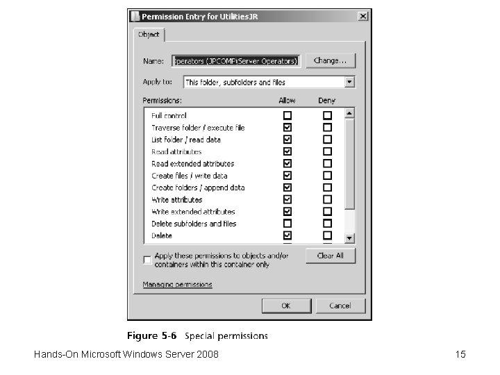 Hands-On Microsoft Windows Server 2008 15
