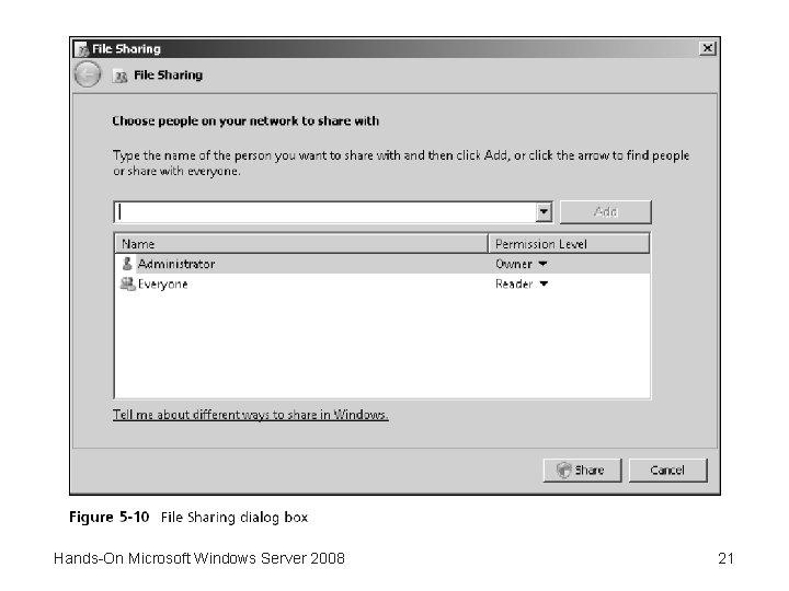 Hands-On Microsoft Windows Server 2008 21