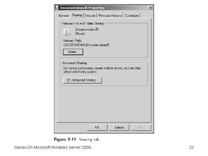 Hands-On Microsoft Windows Server 2008 22