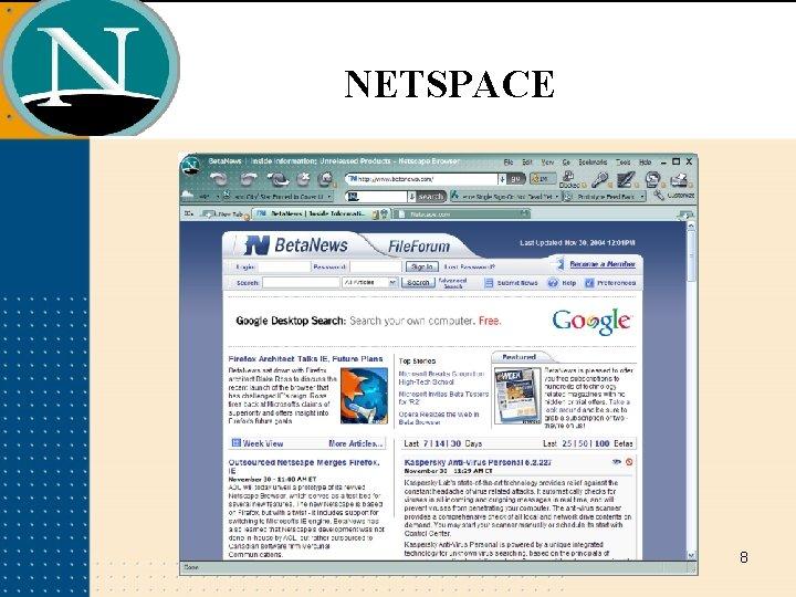 NETSPACE 8