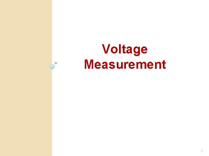 Voltage Measurement 1
