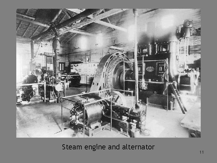 Steam engine and alternator 11