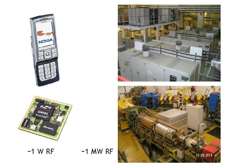 ~1 W RF ~1 MW RF 32