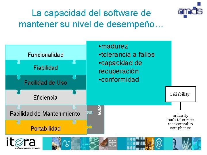 La capacidad del software de mantener su nivel de desempeño… Funcionalidad Facilidad de Uso