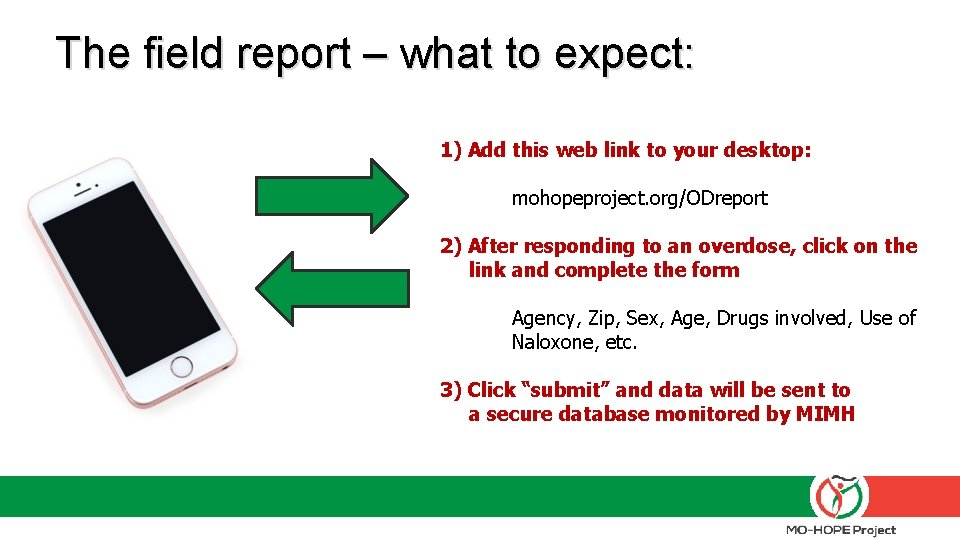 The field report – what to expect: 1) Add this web link to your