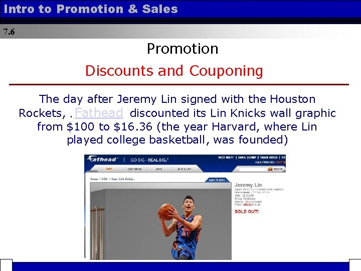 Intro to Promotion & Sales 7. 6 Promotion Discounts and Couponing The day after
