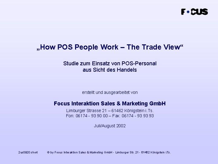 """""""How POS People Work – The Trade View"""" Studie zum Einsatz von POS-Personal aus"""