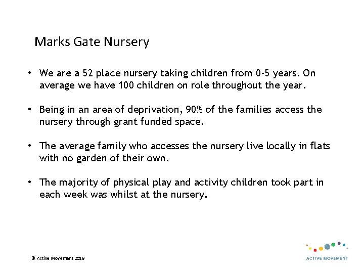 Marks Gate Nursery • We are a 52 place nursery taking children from 0