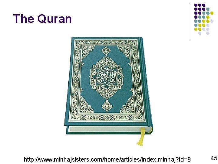 The Quran http: //www. minhajsisters. com/home/articles/index. minhaj? id=8 45