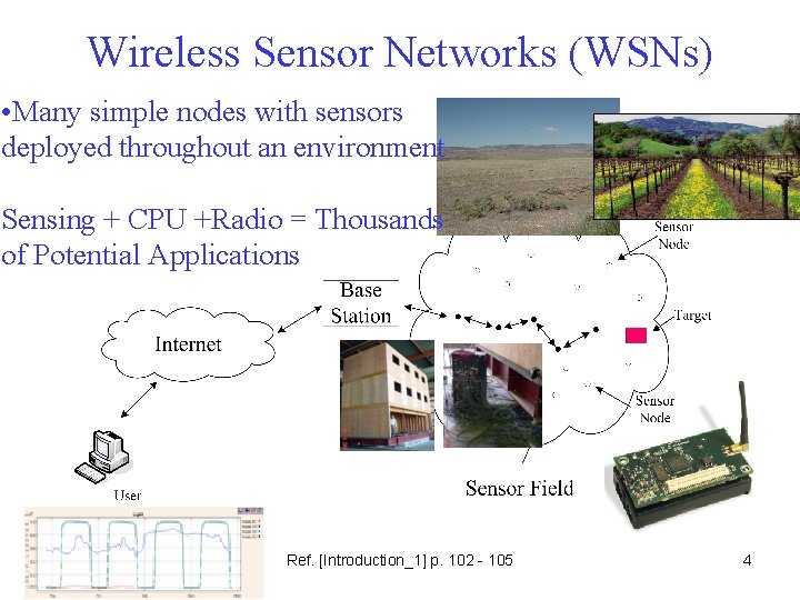 Wireless Sensor Networks (WSNs) • Many simple nodes with sensors deployed throughout an environment
