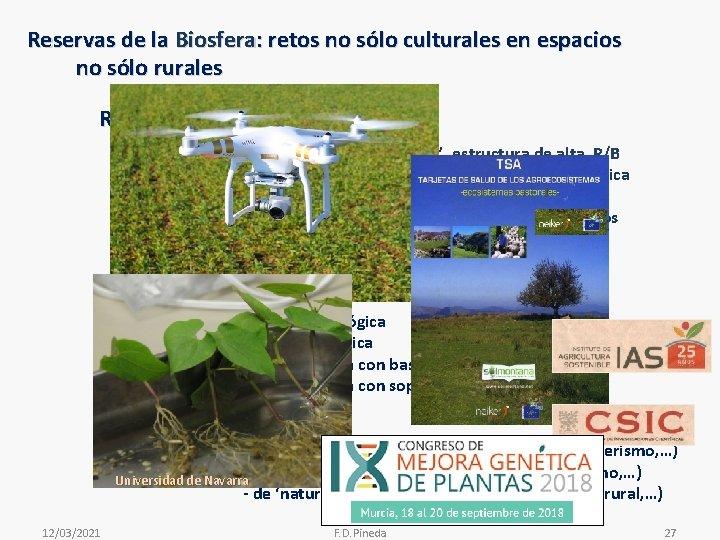 Reservas de la Biosfera: retos no sólo culturales en espacios no sólo rurales Retos