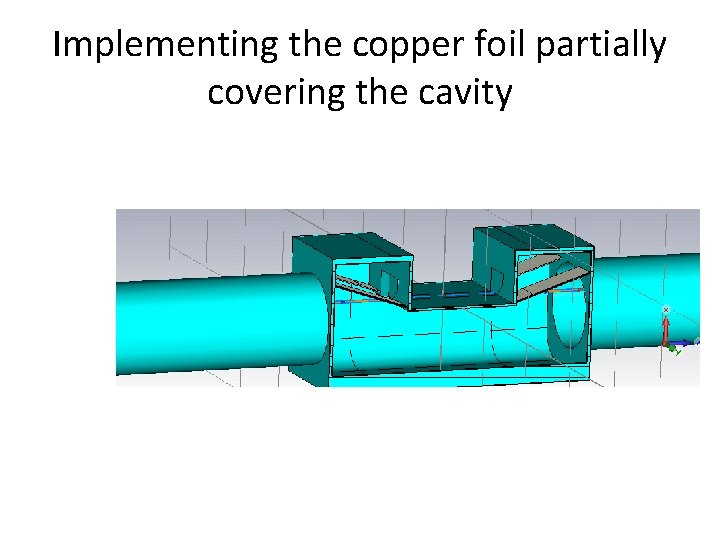 Implementing the copper foil partially covering the cavity