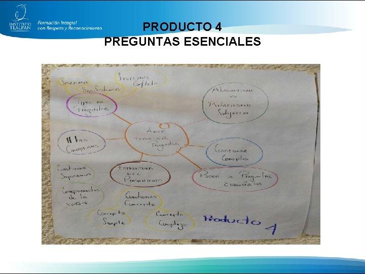 PRODUCTO 4 PREGUNTAS ESENCIALES