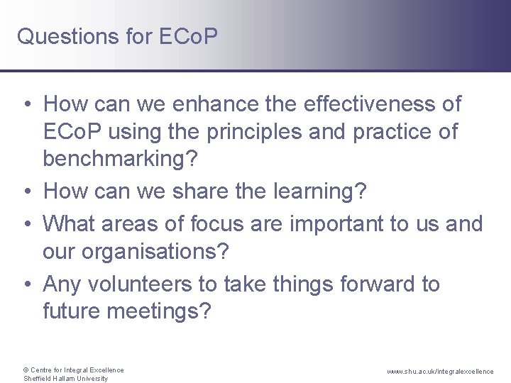 Questions for ECo. P • How can we enhance the effectiveness of ECo. P