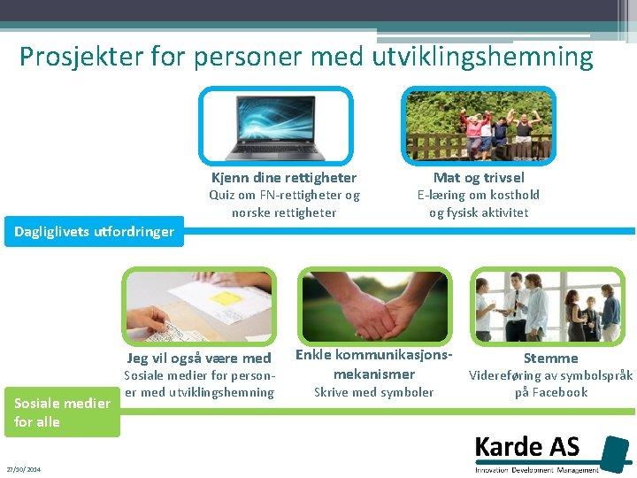 Prosjekter for personer med utviklingshemning Kjenn dine rettigheter Quiz om FN-rettigheter og norske rettigheter