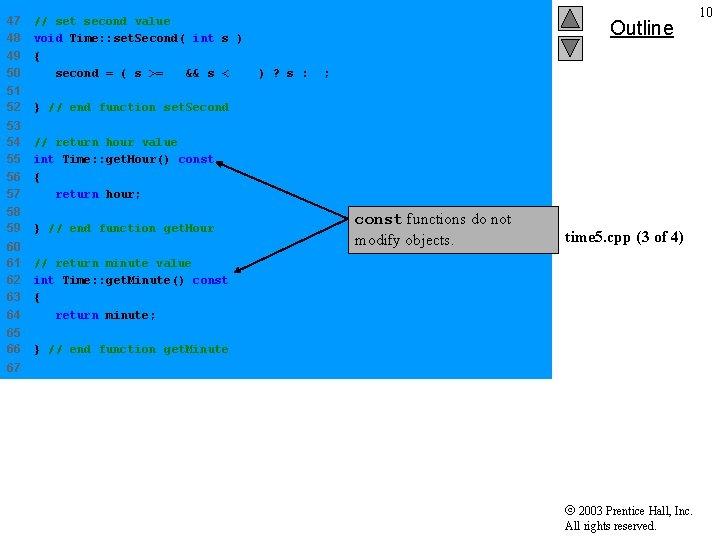 47 48 49 50 // set second value void Time: : set. Second( int
