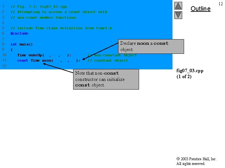 1 2 3 // Fig. 7. 3: fig 07_03. cpp // Attempting to access