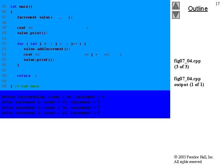 45 46 47 int main() { Increment value( 10, 5 ); 48 49 50