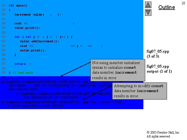 44 45 46 int main() { Increment value( 10, 5 ); 47 48 49