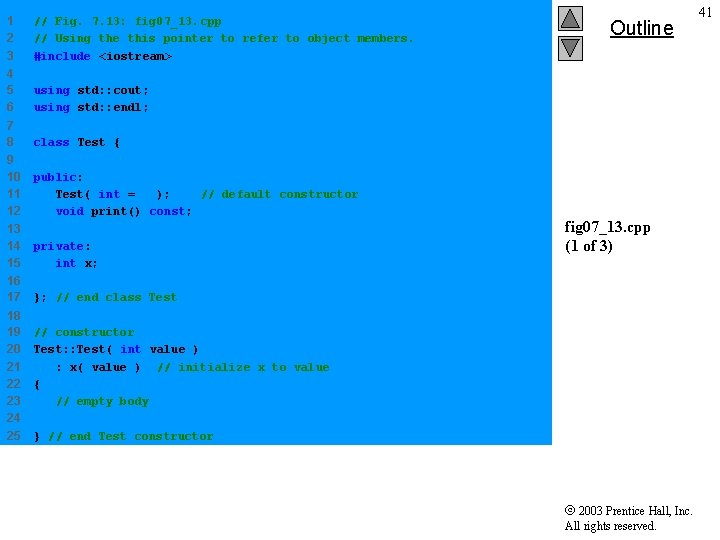 1 2 3 // Fig. 7. 13: fig 07_13. cpp // Using the this