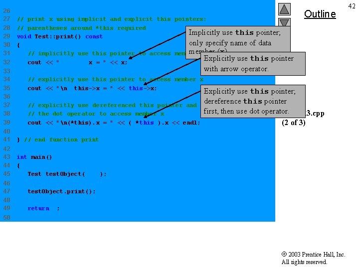 26 27 28 29 30 31 32 // print x using implicit and explicit