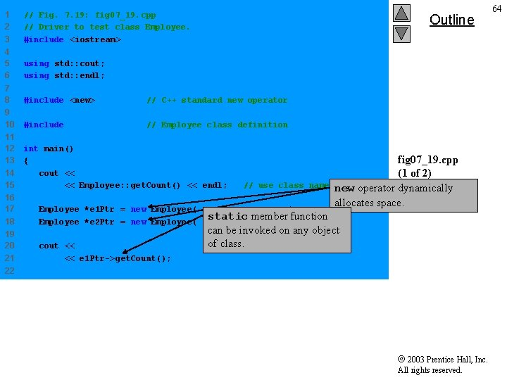 1 2 3 // Fig. 7. 19: fig 07_19. cpp // Driver to test