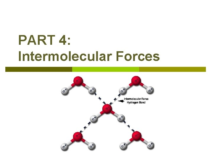 PART 4: Intermolecular Forces